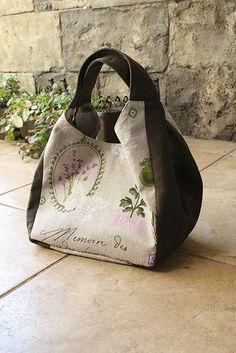 実物大型紙【No.3169】広幅マチと手紐のたっぷりバッグ