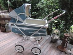 Mid Century Doll Carriage Baby Doll Buggy by used2bnewVintage