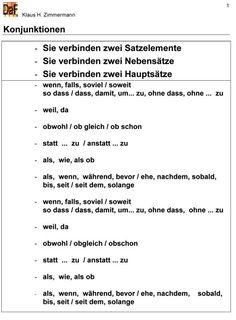 》Grammatik - Konjunktionen.《