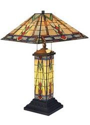 668-TB Sedona Tiffany Glass Table Lamp and Lampshade and Bronze Detailing by Dimond Lighting with Free Shipping and 25-45% Discount, No Tax.