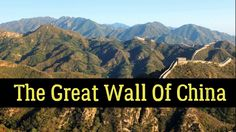 The construction of the Great Wall of China took over 2000 years. The very first parts of the Great Wall were built as early as the century BC. Great Wall Of China, Grand Canyon, Fun Facts, Mountains, Blog, Travel, Voyage, Great Wall China, Blogging