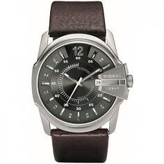 7a6145629fb Diesel DZ1206 Brown leather Analog quartz men s watch Business Discount  Watches