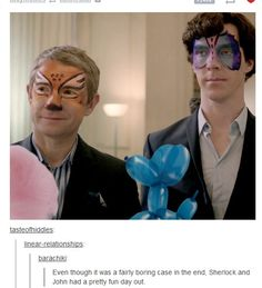 Even though it was a fairly boring case in the end, Sherlock and John had a pretty fun day out.