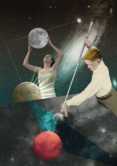 Carambolage - Julien Pacaud • Illustration • Perpendicular Dreams