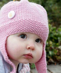 Merino flying helmet - pink