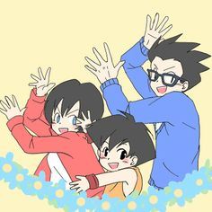 Pan. Videl. Gohan. Goku And Bulma, Dbz Gohan, Digimon, Dragon Ball Z, Db Z, Dragon Images, Naruto, Akira, Drawing Sketches