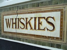 Pubs, tiles, victorian, whiskies