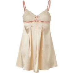 ELLE MACPHERSON INTIMATES Cloud Swing Vintage Cream Chemise ($62) ❤ liked on Polyvore featuring intimates, chemises, lingerie, pajamas, pijamas, dresses, underwear, stretch lace camisole, stretch lace chemise and lingerie chemise