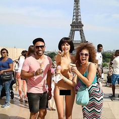 Swiss Performance Artist Miro Moiré Arrested for Nude Eiffel Tower Selfies Selfies, Paris, Still In Love, Beauty Full Girl, Real Life, Image Search, Naked, Tower, Photo And Video