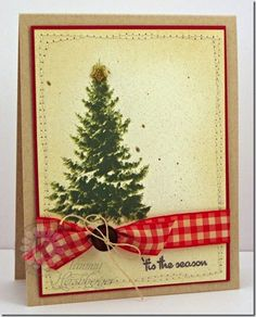 KSS Snowy Tree by Tammy H. ~ This card uses the new Multi-Step Snowy Pine Trees, and a sentiment from Never a Loss 4 Words (Kitchen Sink Stamps).