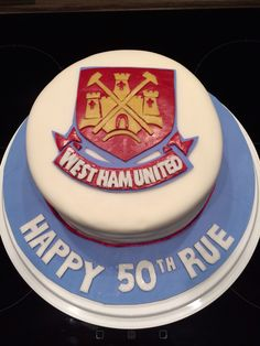 I made this West Ham cake for my lovely husband's 50th birthday