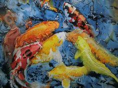 《 躍動 Enlivened 》作品局部 painting by Kuo,Hsin-i