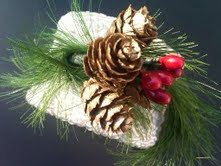 Winter Decorations / Branch Holder by HauteInteriorsLLC on Etsy, $17.50