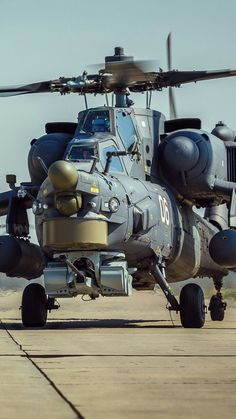 "Mil Mi-28 ""Havoc"" (Russian all-weather, day-night, military tandem, two-seat anti-armor attack helicopter)"