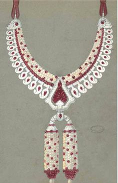 Cartier. India necklace sketch...♡