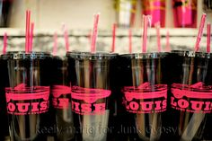 "YOu and Yer Partner IN Crime GOts to have these!!! Super cute 20oz ""TheLma"" & ""LouiSe"" tUmblers!! Dark grey with HOT pink writing."