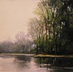 October Kanaka Creek Watercolor on Paper Renato Muccillo
