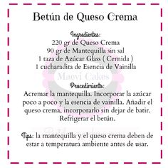 Betún de Queso Crema                                                       … Sweet Recipes, Cake Recipes, Dessert Recipes, Cake Pops, Cheesecake Pie, Monster Birthday Parties, Easter Cupcakes, Latin Food, Baking Tips