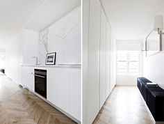 ::  KITCHENS :: INTERIORS :: Appartment Poissonniere - Frederic Berthier Architecture featured on Plastolux - love this entire apartment, beautiful details #interiors