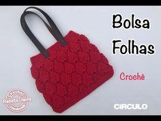 Bolsa Folhas croche Maxcolor - Renata Vieira - YouTube Loom Knitting Patterns, Knitting Stitches, Free Knitting, Purse Patterns, Stitch Patterns, Crochet Bag Tutorials, Knitting Tutorials, Crochet Handbags, Crochet Dresses