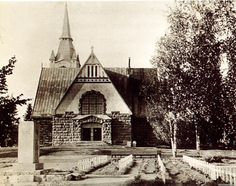 Old Buildings, Central Asia, Old Pictures, Finland, Cathedral, Lost, House Styles, Places, Antique Photos