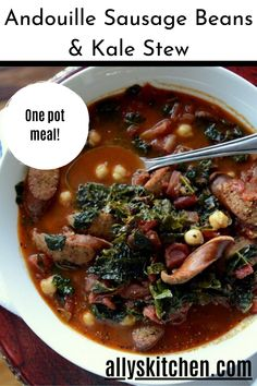 What's great about this product is that it tastes like sausage but it has no pork. It's got that Cajun spiciness and the hardwood smoked flavor. #easystew #stewrecipe Holiday Recipes, Dinner Recipes, My Favorite Food, Favorite Recipes, Soup Appetizers, Turkey Dishes, Chowders, One Pot Meals, Quick Easy Meals