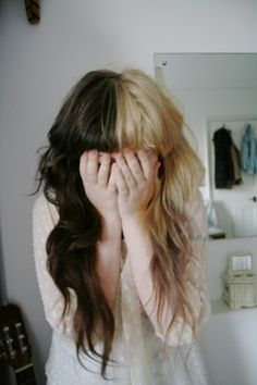 Ever since I dyed my hair this way, I LOVE it.  I really love these bangs though, making me consider a change.