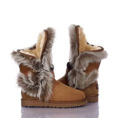 UGG Boots - Fox Fur - Chestnut - 5331