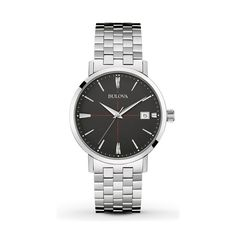 Shop for Bulova Men's Classic Stainless Black Dial Bracelet Watch. Get free delivery On EVERYTHING* Overstock - Your Online Watches Store! Bulova Mens Watches, Watches For Men, Stainless Steel Watch, Stainless Steel Bracelet, Men Dress, Bracelet Watch, Jewelry Watches, Ebay, Classic Collection