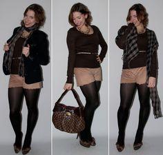 Luta do Dia: o passo-a-passo do look do dia - como usar short com meia-calça FiveBlu e preto com marrom no blog de moda