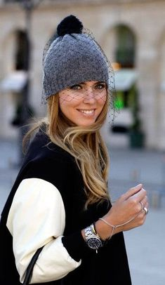 35d26cc9a3d Chiara Ferragni wearing a Veil Beanie.