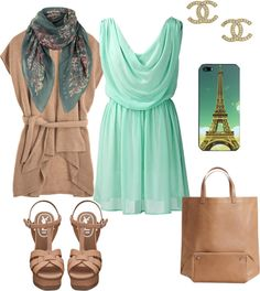 """Paris je t'aime Spring Outfit"" by natihasi on Polyvore"