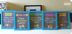 Whole Brain Rules Posters FREEBIE from Proud to be Primary