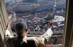 Tens of thousands of people attended Pope Benedict XVI's traditional angelus prayer in Saint Peter Square, on Jan. 19, 2008. The crowd showed its support after the Vatican canceled the pope's visit to a university because of protests by students and faculty.
