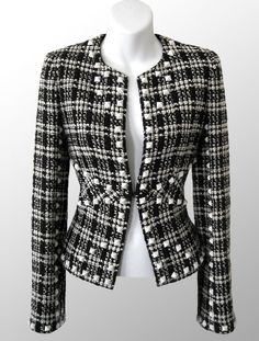 CHANEL Jackets for women - Buy or Sell your Designer Clothing online! Chanel Outfit, Chanel Dress, Chanel Jacket, Chanel Coat, Blazers For Women, Jackets For Women, Clothes For Women, Dope Fashion, Fashion Outfits