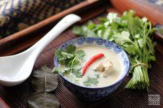 soupe thaïe au poulet et lait de coco