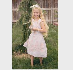 Girl's Flower Tea Party Dress Up  Apron & matching Headband - Rose Floral pattern Vintage apron (1950-1960 circa) Tea Party Dress Up