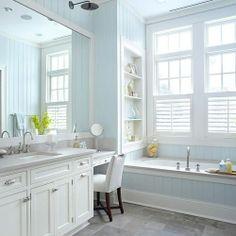 Cottage Bathrooms Beadboard | Cottage Decor: Blue Beadboard Bathroom