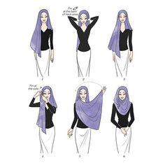 10 Turban Hijab, Hijab Niqab, Mode Hijab, Hijab Dress Party, Hijab Wedding Dresses, Hijab Bride, Hijab Outfit, Simple Hijab Tutorial, Hijab Style Tutorial
