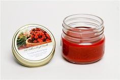 (2 Pack) Scented Mason Jar Candles (Cranberry Smash)