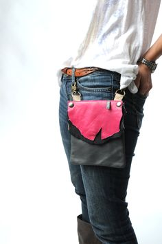 love this leather hip bag by elphile!