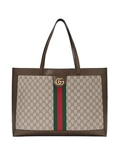 7c3415dceafd Amazing offer on Gucci Large GG Supreme Canvas Tote online - Allfashiondress
