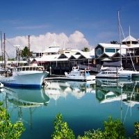 Photo about Port Douglas - Gate to Great Barrier Reef Taken in Queensland Australia. Image of trip, woodenul, port - 7360856 Holiday Flights, Charter Boat, Holiday Places, Queensland Australia, Sunshine State, Great Barrier Reef, Cruise, Tours, Stock Photos