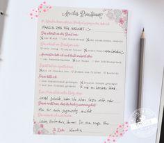 Gästebuch Hochzeit mal anders - Gästekarten zum Ausfüllen für die Hochzeit. Diese Gästebuchkarten mit vorgedruckten Fragen sorgen für Gesprächsstoff!