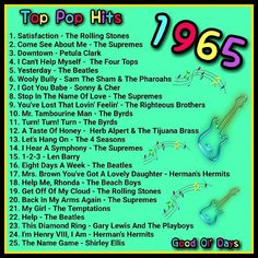 Top 20 Music, 60s Music, Music Hits, I Love Music, Music Songs, Music Lyrics, Country Love Songs, Wooly Bully, Stress Relief Music