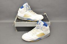a45c9128f62cc Nike Air Jordan Retro 5 V 2006 White Royal Blue Size 13 - 136027-142   Jordan…