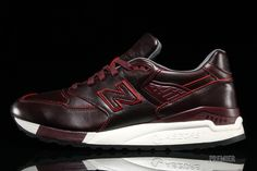 New Balance - 998 (Bespoke Authors) Horween Leather (Black/Plum/Red)