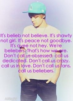 We are beliebers