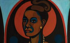 American People, Black Light: Faith Ringgold's Paintings of the 1960s | Faith Ringgold 1965 | National Museum of Women in the Arts