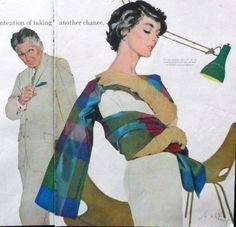 """Art by Coby Whitmore, """"Saturday Evening Post"""" October 26, 1957"""